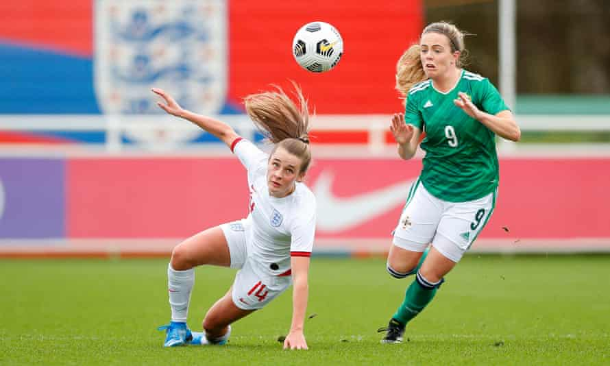 England's Ella Toone was praised by Hege Riise for her debut performance.