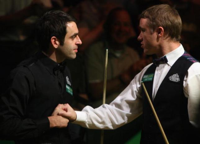 Ronnie O'Sullivan and Stephen Hendry