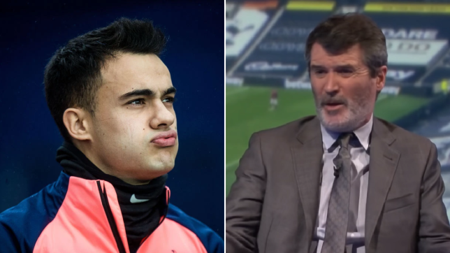 Sergio Reguilon reacts to Roy Keane calling Spurs' players 'average' in heated argument