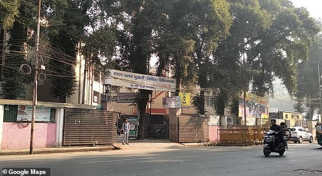 A college student who was found naked and severely burnt along a national highway in India has said she was set on fire by a gang of men who had attempted to rape her. She is receiving treatment at the Dr Shyama Prasad Mukherjee Hospital in Lucknow (pictured)