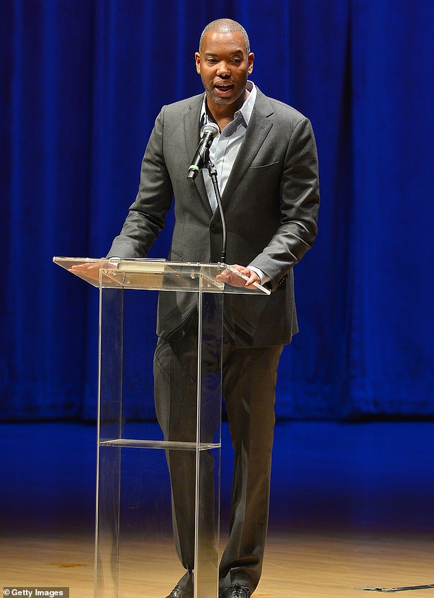 In the works: Ta-Nehisi Coates will author the screenplay for a new Superman movie with J.J Abrams set to produce; the writer is pictured during a reading in 2019