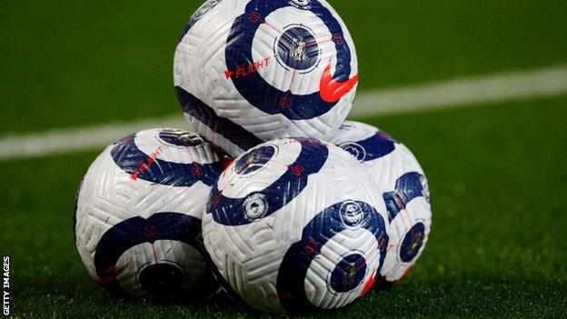 A general image of some Premier League footballs