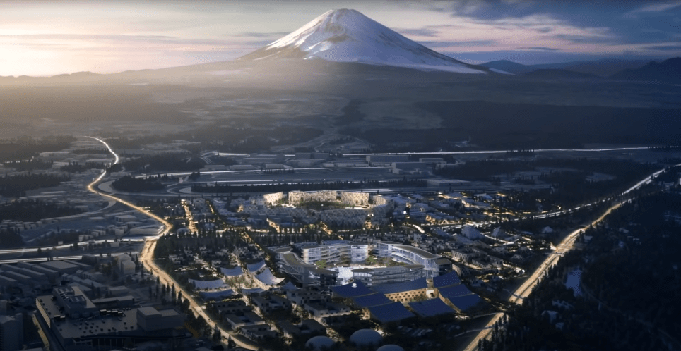 The ambitious future city will have stunning views of Mount Fuji (Photo: Toyota)