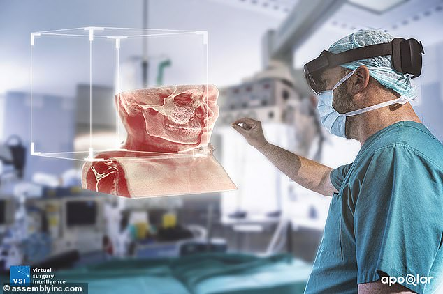 Virtual reality-style goggles that let doctors 'see' inside the body can spare patients with facial tumours from disfiguring paralysis