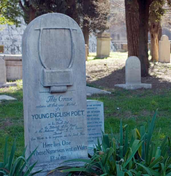 the grave of John Keats in Rome's Non-Catholic Cemetery.