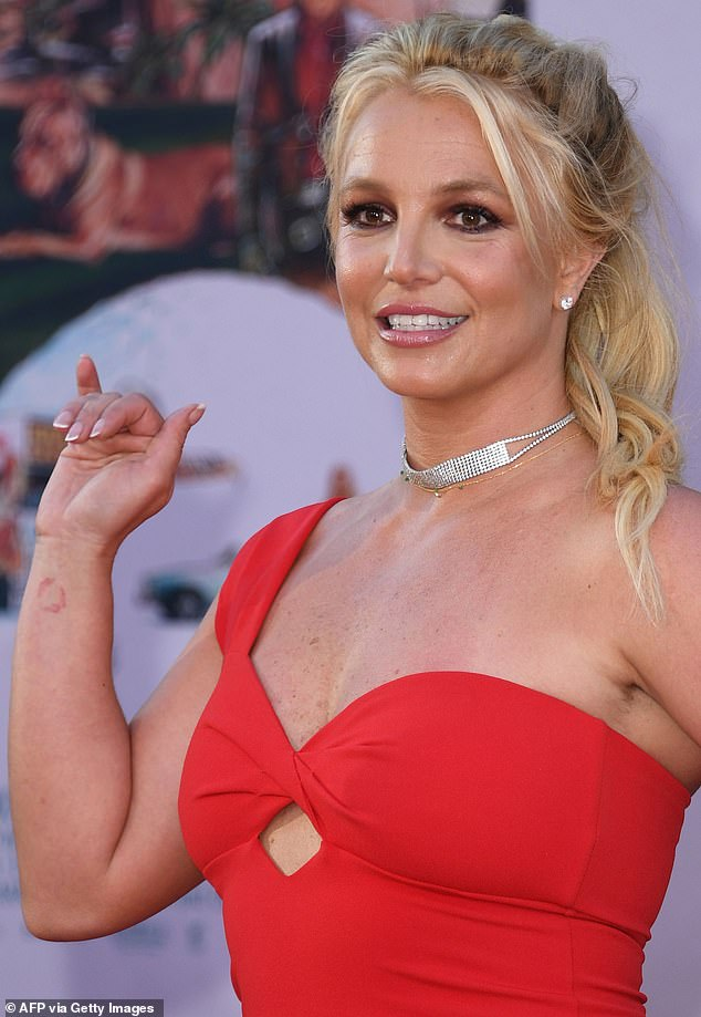 Be kind: The 29-year-old first posted a quote that appeared to be about Britney, 39: 'Everyone you meet is fighting a battle you know nothing about. Be kind. Always' (pictured in July, 2019)