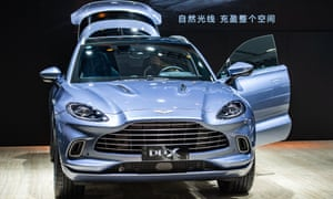 An Aston Martin DBX SUV on display during the 18th Guangzhou International Automobile Exhibition last November.
