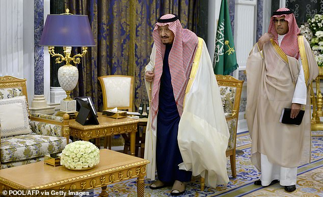 The Biden administration said it would recalibrate relations with Saudi Arabia and that Biden would speak with the 85-year-old KingSalman bin Abdulaziz (above left) instead of his heir - a change in policy from the Trump administration