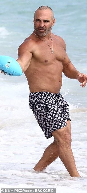 Joe also enjoyed playing football on the beach