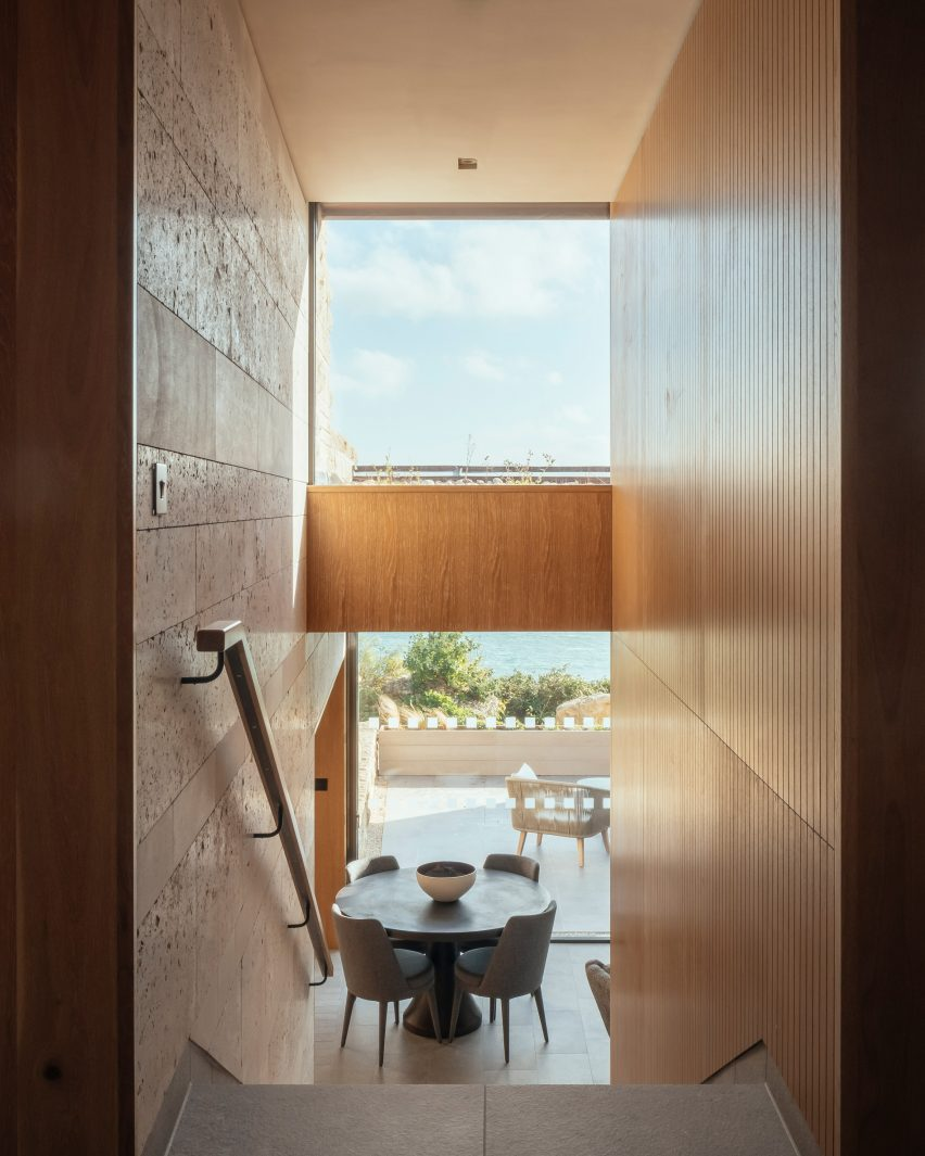 Floor to ceiling windows fill spaces