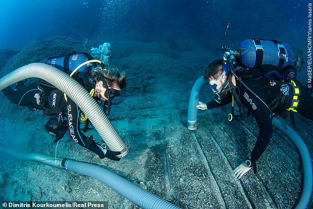 While the Parthenon artefacts were removed and taken to Britain, it was believed that other antiquities including ancient coins, amphorae, and other items had remained on the seafloor, among the wreck, of which 25 per cent of the hull remains