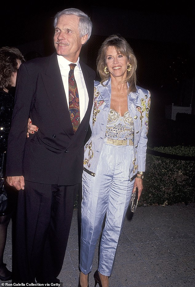 Husband #3: The beauty with her 'favorite husband' Ted Turner in West Hollywood in 1992