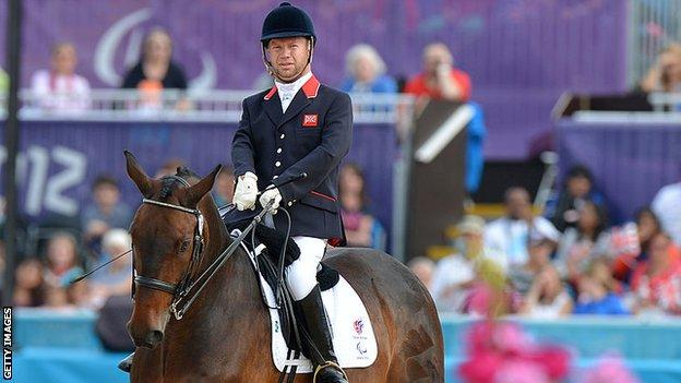 Lee Pearson on Gentleman at the 2012 Paralympics
