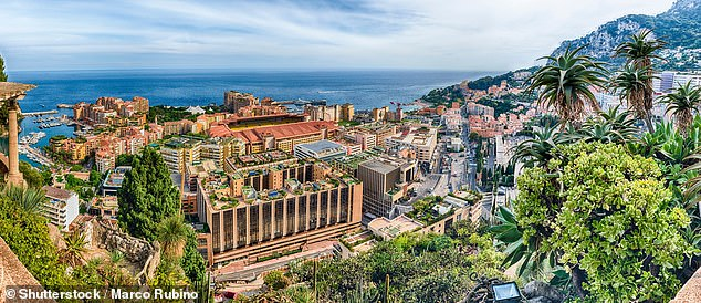 The average wealth of Monaco's wealthiest one per cent is around £5.6million - four times as large as the UK's £1.4million mark. Pictured: The Fontvielle district in Monaco