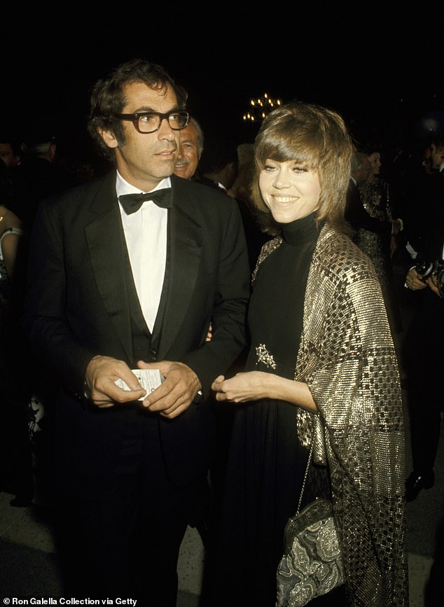 Husband #1: With French director Roger Vadim at the Oscars in Los Angeles in 1971