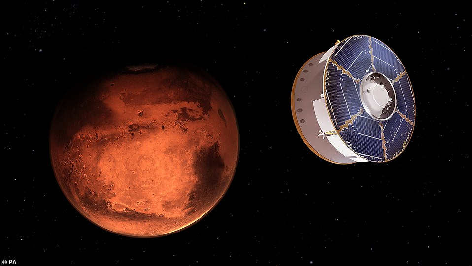 NASA's Perseverance rover is set to land on Mars Thursday (concept image) to search for signs of life and although the mission has been years in the making, the Red Planet has been part of our culture for thousands of years