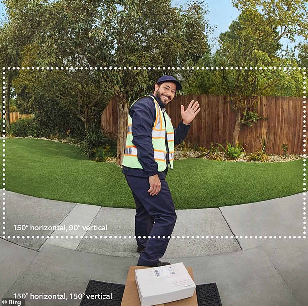 The Ring Video Doorbell Pro 2 increases the horizontal view allowing visitors to be seen from head to toe. It also prevents packages put right on your welcome mat from being out of view