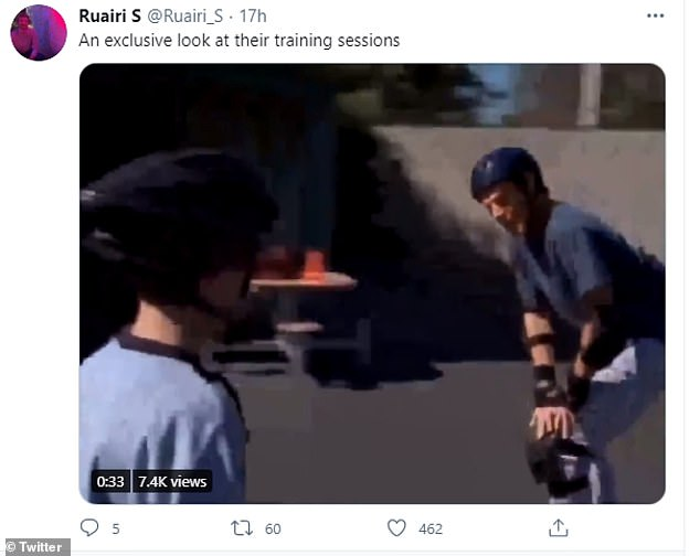 Pictured:News of the new rollerblading unit was met with some amusement and derision of social media