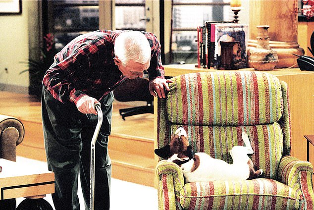 To keep the original idea of a grumpy man stuck indoors, sparring with his carer, the writers made Martin (John Mahoney, pictured) an invalid. He spent most of every episode in his overstuffed recliner chair parked in front of the TV, in the middle of Frasier's flat