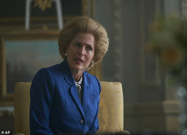 Gillian is up for a Golden Globe next month for her performance as Margaret Thatcher in The Crown