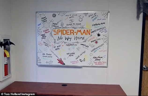Options: The stars walked past a white board revealing the name and some other hilarious options, which included 'Home Worlds,' 'Home Sweet Home,' 'Work From Home,' 'Home Schooled,' 'Home Alone' and the very cheeky 'Wecamming'