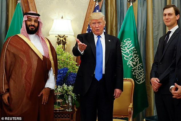 Biden is working to restore the relationship with Riyadh to traditional lines after four years of cozier ties under former president Donald Trump. Trump's son-in-law Jared Kushner was close to bin Salman - the three men are seen together in Riyadh in May 2017