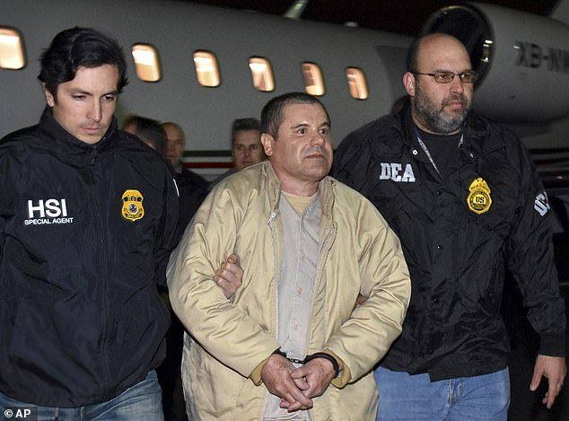 Joaquin 'El Chapo' Guzman (center) came up through the ranks of the defunct Guadalajara Cartel before going on his own and co-founding the Sinaloa Cartel