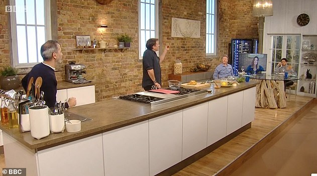 Not best pleased: The two sat mocking presenter Matt Tebbutt's pre-prepared questions, leaving him begging the duo to concentrate due to the pressing time limits on the live show