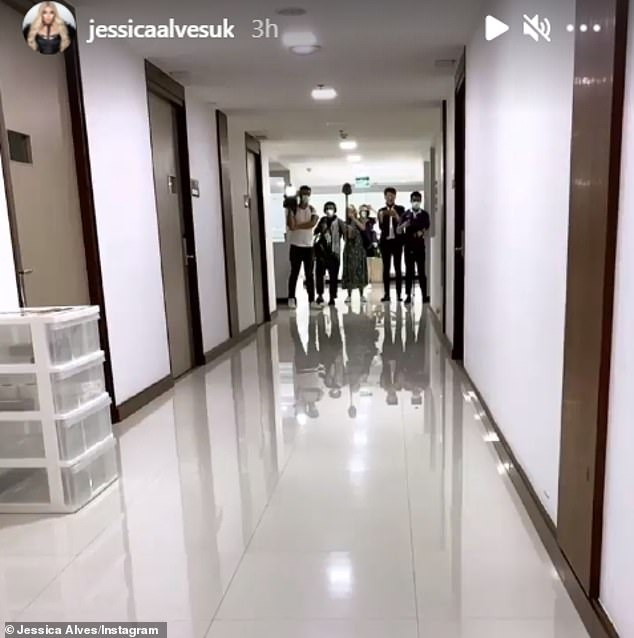 She's got company:Her appearance at the hospital appeared to have generated a stir among reporters, with a small TV crew seen waiting in a hospital corridor.