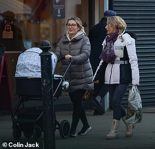 Like mother, like daughter: Joanne also stepped out in a pair of leggings, and she wore boots