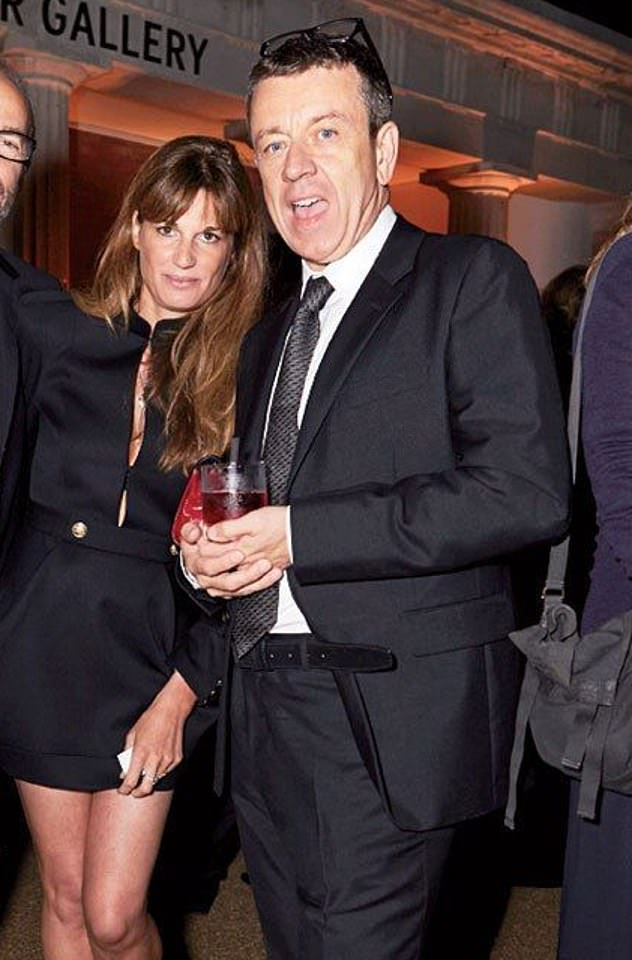 Close circle: Last month, producer Peter, 57, had broken up with his long-term girlfriend Gillian, 52, and 'moved on' with Jemima, 47 (pictured together in 2013)