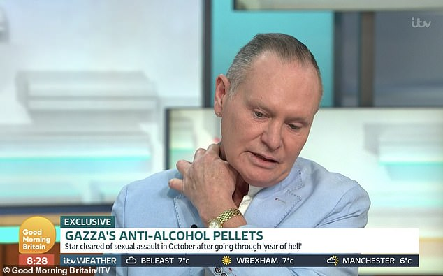Honest: Paul appeared on This Morning in January, where he revealed: 'I had a relapse at Christmas, which I was gutted [about], but I've just got back on the straight and narrow again'