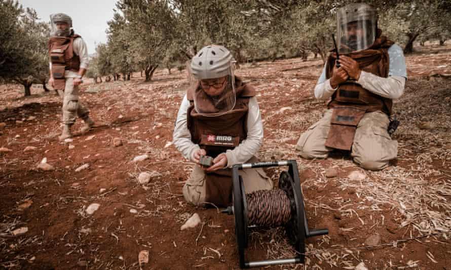'It's a great responsibility': Mofida Majzoub prepares a detonation.