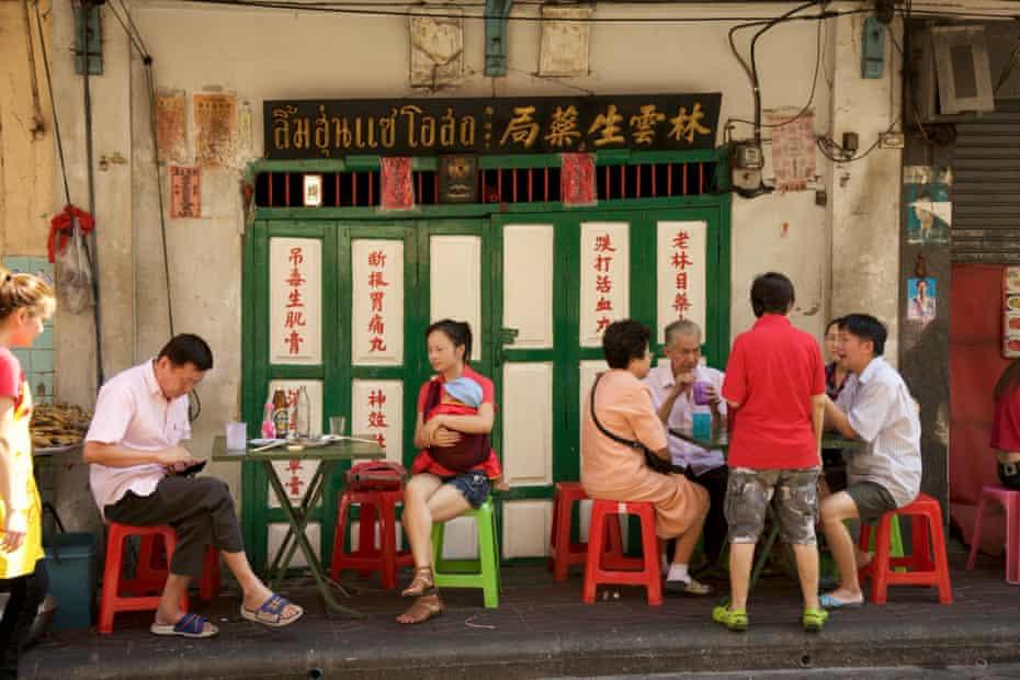 Street food stall in Chinatown, Bangkok