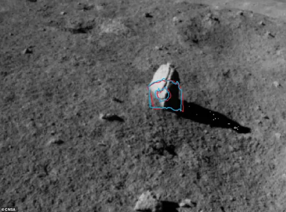 The Chang'e-4 lander and Yutu 2 rover recently spent 14 days hibernating during the long lunar night to protect mechanisms from freezing – temperatures can reach -310 degrees Fahrenheit.After powering back on February 6, the rover continued its work of exploring the far side and that is when it spotted the unusual stalagmite