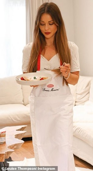 That's it: Made In Chelsea star Louise Thompson produced a rather more impressive pancake, and didn't waste any time showing it off with her own followers