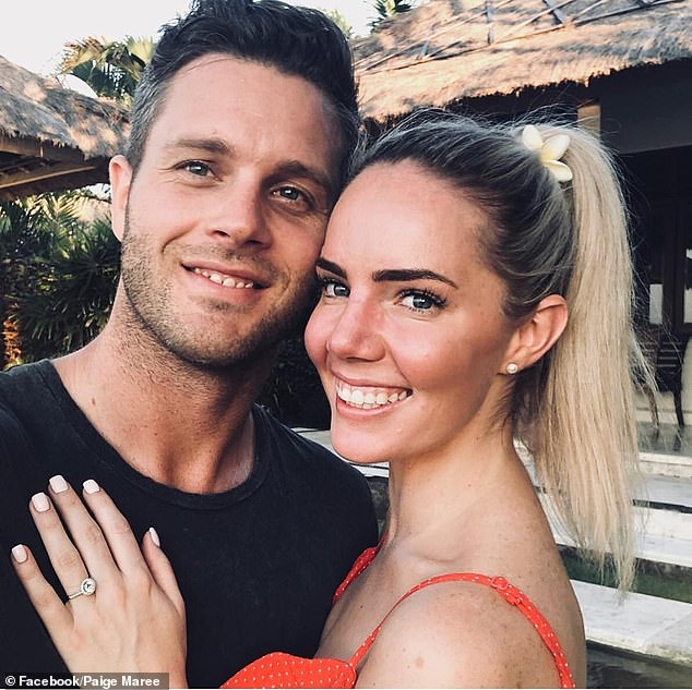 Case of the ex: Paige and Jake dated for about three years before getting engaged during a romantic trip to Fiji in December 2018