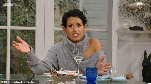 On screen: Emily said she had a 'joyous' time on-screen following the scandal surrounding Naga Munchetty (pictured) and Charlie Stayt's 'rude and obnoxious' stint