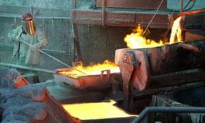 The Codelco Ventanas copper smelter in Ventanas, Chile.