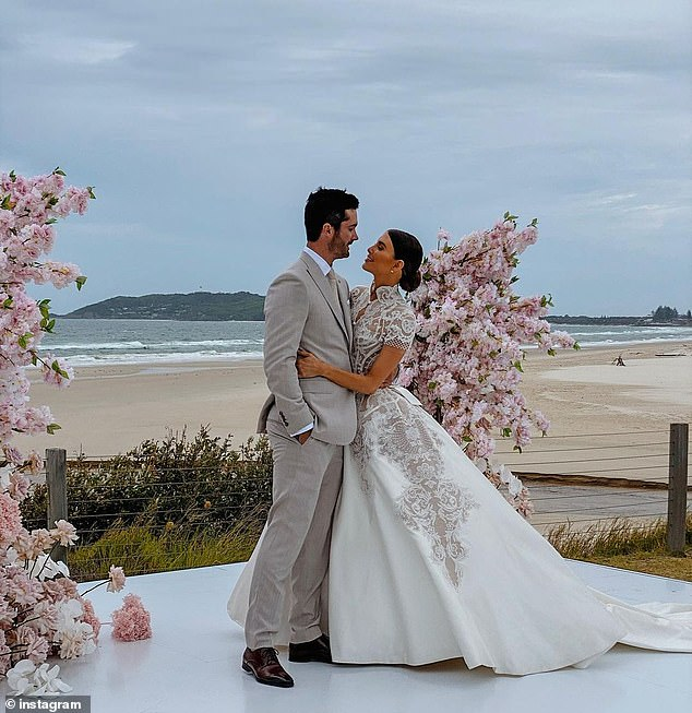 I do: Erin and Ben married in Byron Bay on Saturday, February 13, after rescheduling their wedding twice due to the coronavirus pandemic