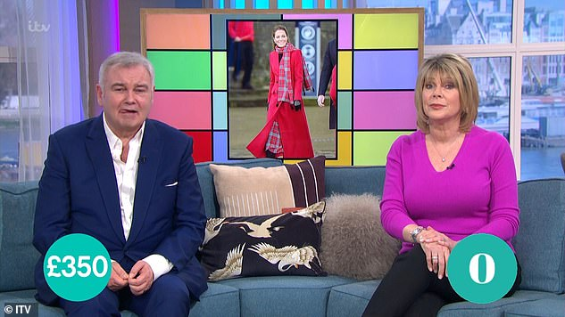 Not happy: It comes after Eamonn was slammed by This Morning viewers after he made a jibe about his wife Ruth's weight on Monday's episode of the chat show