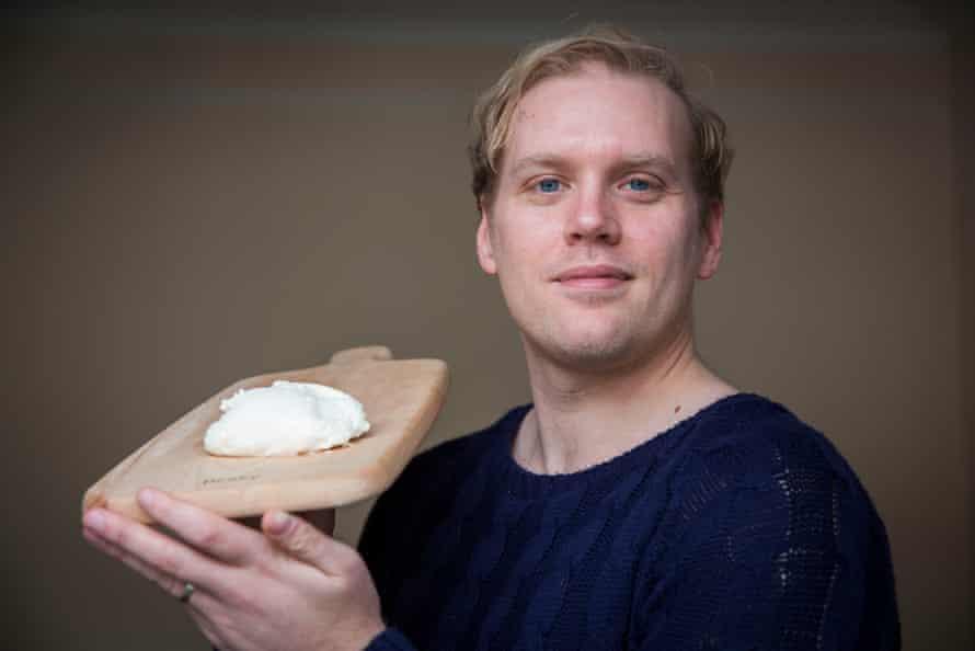 Stuart Heritage with his homemade mozzarella