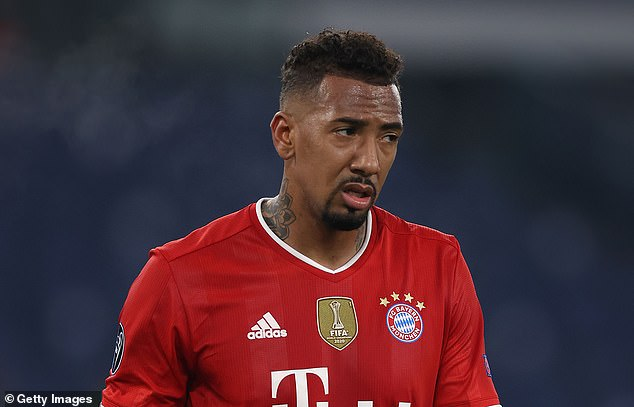 Boateng playing for Bayern Munich in a Champions League game against Lazio on Tuesday