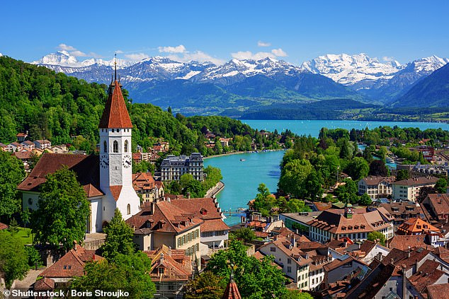 Of the top 20 territories examined in the study, nations such the US, Switzerland (pictured) and the principality of Monaco all rank above the UK