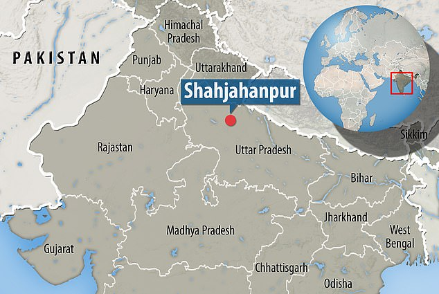 The unnamed woman was discovered lying along a national highway in Shahjahanpur in Uttar Pradesh on Monday