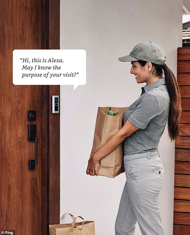 Ring Protect Plan subscribers can use Alexa Greetings with the Pro 2, allowing Amazon's virtual assistant to greet visitors, take messages, and provide package instructions