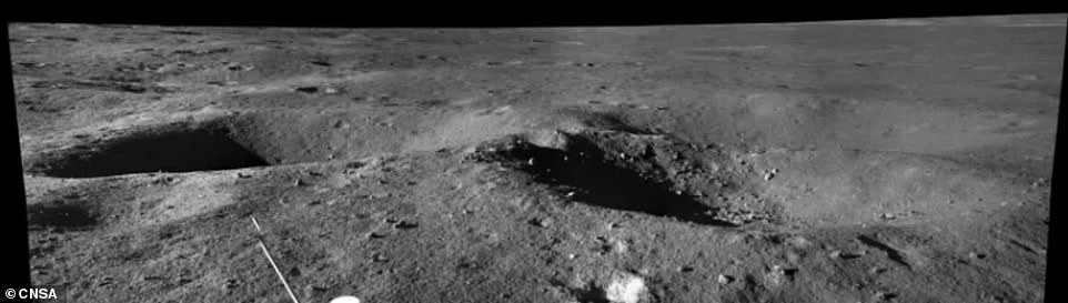 However, further analysis is needed to determine its exact origins and the China National Space Administration's (CNSA) plans to use the rover's imaging capabilities to probe its composition