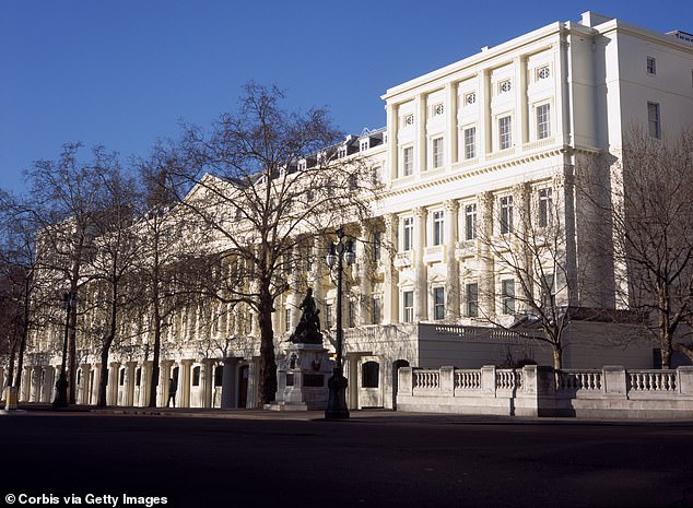 Carlton House Terrace, the home of London's richest, brothers Srichand Parmanand and Gopichand Hinduja