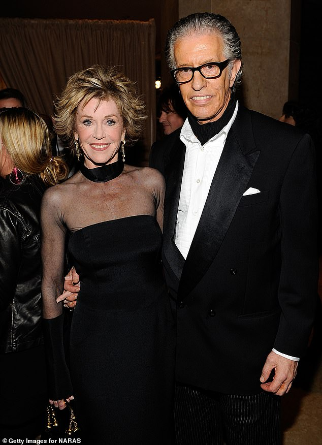Her last beau: Fonda and music producer Richard Perry arrive at the 52nd Annual GRAMMY Awards - Salute To Icons Honoring Doug Morris held at The Beverly Hilton Hotel in 2010
