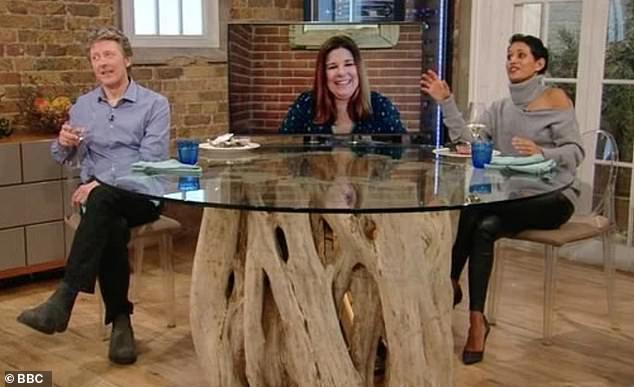 Anger:BBC News hosts Naga and Charlie garnered over 100 complaints about their 'obnoxious, rude and self-absorbed' appearance on Saturday Kitchen last weekend